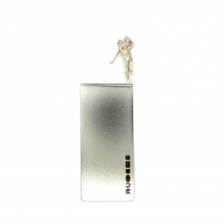 Silver Bookmark called Golfer George Sheffield Silversmith and Jeweller Rebecca Joselyn