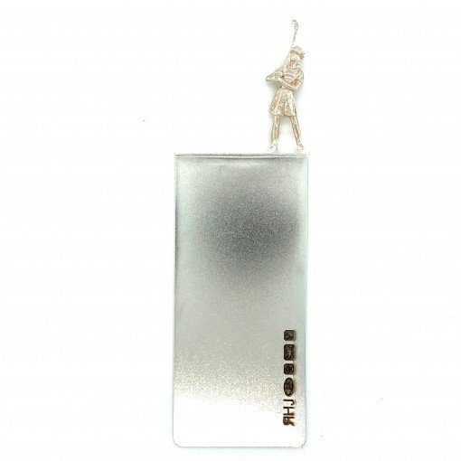 Silver Bookmark called Nancy by Rebecca Joselyn by Sheffield Silversmith and Jeweller Rebecca Joselyn Silversmith and Jeweller Made in Sheffield South Yorkshire