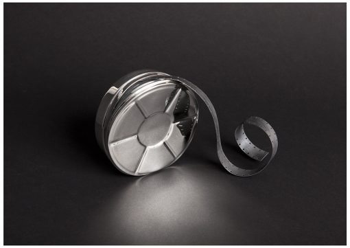 Commission - Silver 'Film Canister' by Sheffield Silversmith and Jeweller Rebecca Joselyn