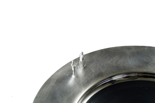 Silver 'People' Plate by Sheffield Silversmith and Jeweller Rebecca Joselyn