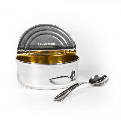 Silver 'Tuna' Sugar Bowl by Sheffield Silversmith and Jeweller Rebecca Joselyn