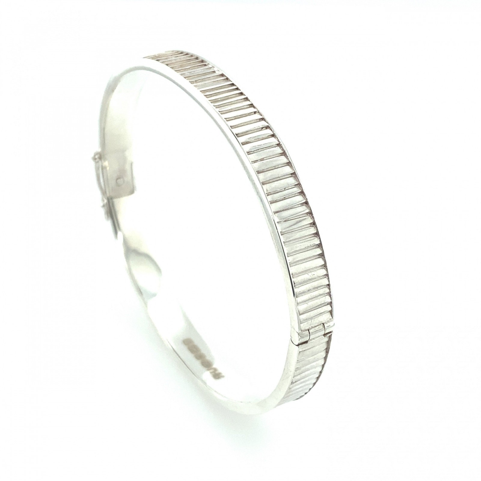 Silver Bangle by Sheffield Silversmith and Jeweller Rebecca Joselyn
