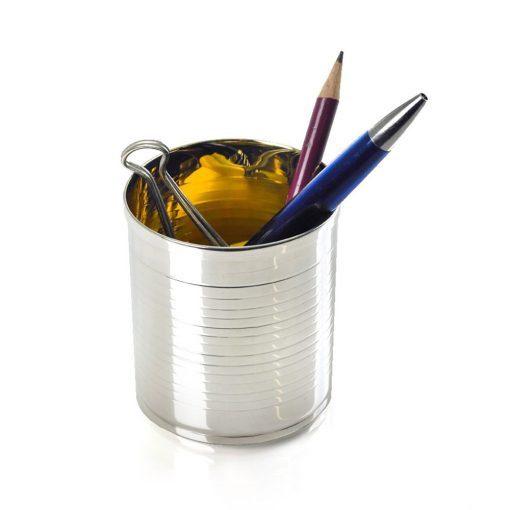 Silver 'Desk Tidy' Pen Holder by Sheffield Silversmith and Jeweller Rebecca Joselyn