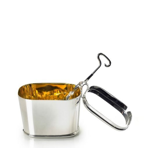 Silver 'Sugar Bowl' with a Silver 'Key Spoon' by Sheffield Silversmith and Jeweller Rebecca Joselyn