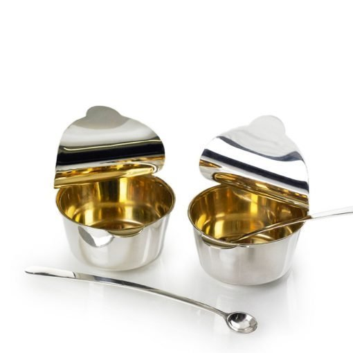 Silver Condiment 'Sauce' Pots by Sheffield Silversmith and Jeweller Rebecca Joselyn