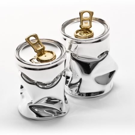 Silver 'Tonic' Salt & Pepper Set by Rebecca Joselyn Silversmith and Jeweller handmade in Sheffield South Yorkshire