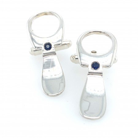 Silver Ring Pull Cufflinks by Rebecca Joselyn Silversmith and Jeweller Made in Sheffield South Yorkshire