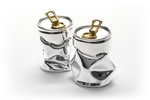 Tonic salt and Pepper Condiment set in sterling silver by silversmith and Jeweller Rebecca Joselyn Silversmith and Jeweller handmade in Sheffield South Yorkshire