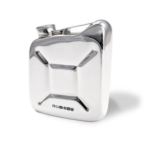Silver 'Jerry Can' Hip Flask by Sheffield Silversmith and Jeweller Rebecca Joselyn