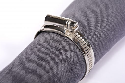 Silver 'Jubilee Clip' Napkin Ring by Rebecca Joselyn Silversmith and Jeweller handmade in Sheffield South Yorkshire