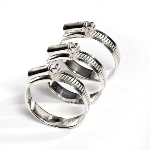 Silver 'Jubilee Clip' Napkin Ring by Sheffield Silversmith and Jeweller Rebecca Joselyn