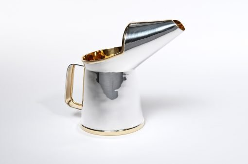 Silver 'Oil Jug' Half Pint by Rebecca Joselyn Silversmith and Jeweller handmade in Sheffield South Yorkshire
