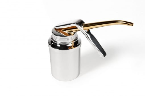 Hand held Silver 'Oil' Can by Sheffield Silversmith and Jeweller Rebecca Joselyn