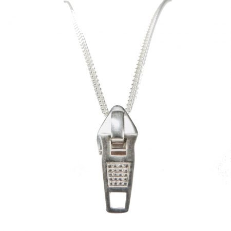 Silver 'Zip' Pendant by Sheffield Silversmith and Jeweller Rebecca Joselyn