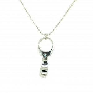 Silver 'Ring Pull' Pendant by Sheffield Silversmith and Jeweller Rebecca Joselyn