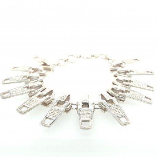 Silver Zip Bracelet by Silversmith and Jeweller Rebecca Joselyn Sheffield