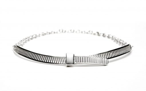 Silver 'Cable Tie' Necklace by Sheffield Silversmith and Jeweller Rebecca Joselyn