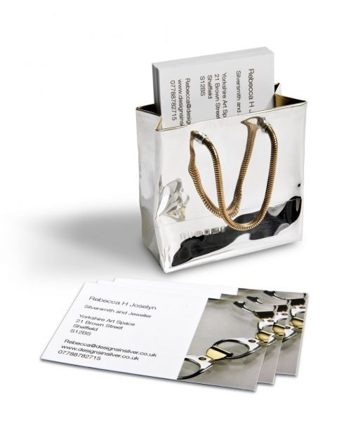 Small Silver 'Gift Bag' by Rebecca Joselyn Silversmith and Jeweller handmade in Sheffield South Yorkshire