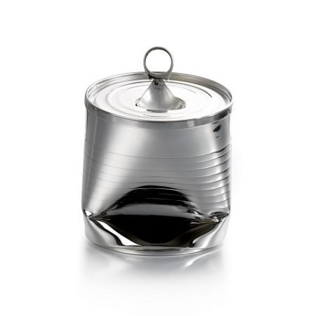Silver 'Crushed Can' Tea Caddy by Sheffield Silversmith and Jeweller Rebecca Joselyn