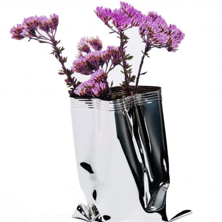 Small Silver 'Packet Vase' by Sheffield Silversmith and Jeweller Rebecca Joselyn