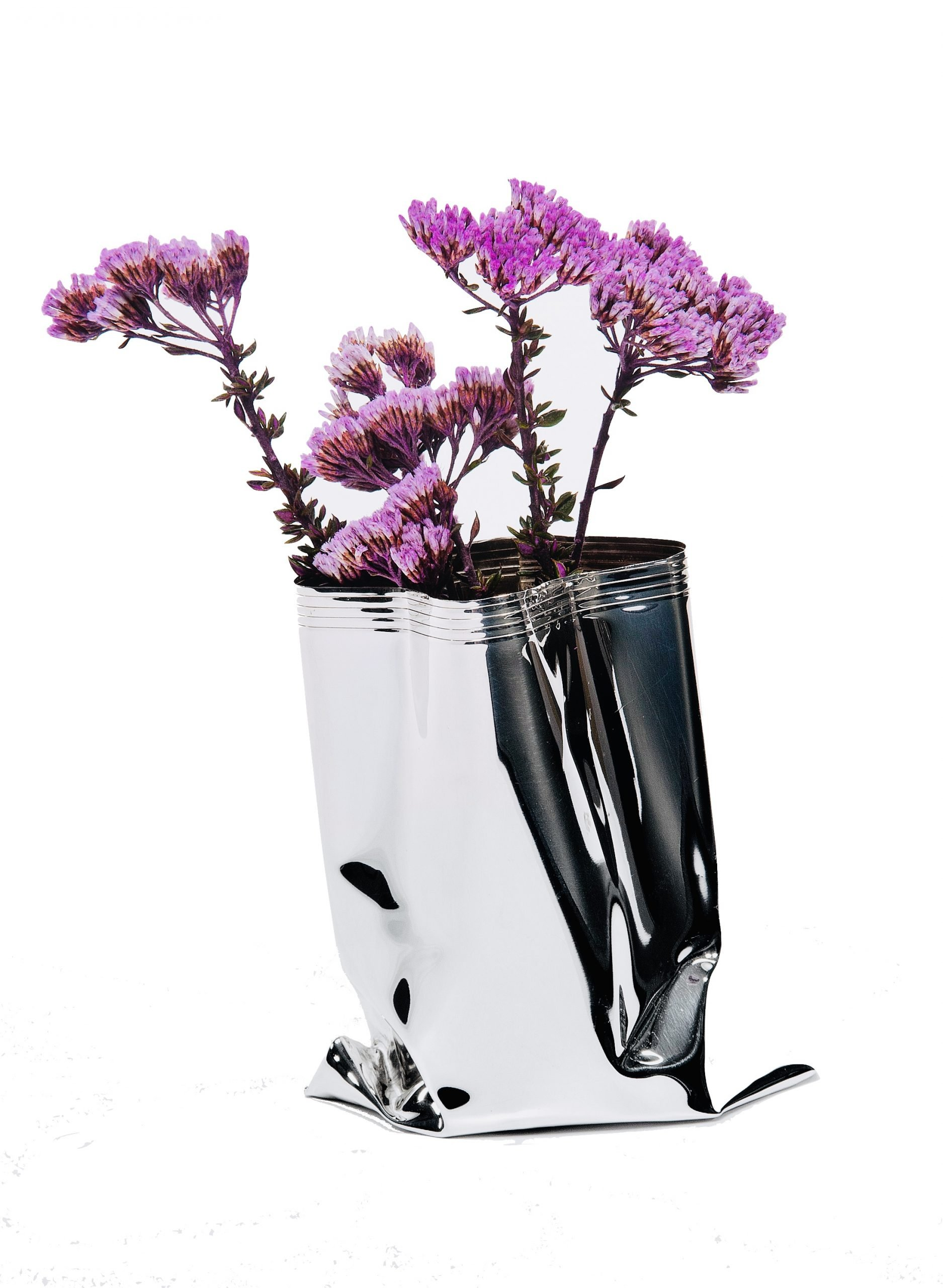 Small Silver 'Packet Vase' by Rebecca Joselyn by Rebecca Joselyn Silversmith and Jeweller Made in Sheffield South Yorkshire