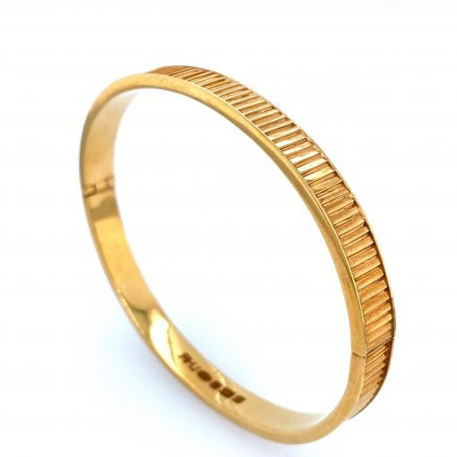 Silver 'Cable Tie' Bangle Gold Plate by Sheffield Silversmith and Jeweller Rebecca Joselyn