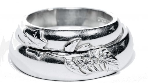 Bespoke 'Wedding Rings' in Sterling Silver by Rebecca Joselyn Silversmith and Jeweller Made in Sheffield South Yorkshire