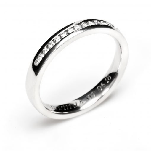 Bespoke Platinum Wedding Rings by Rebecca Joselyn Silversmith and Jeweller Made in Sheffield South Yorkshire