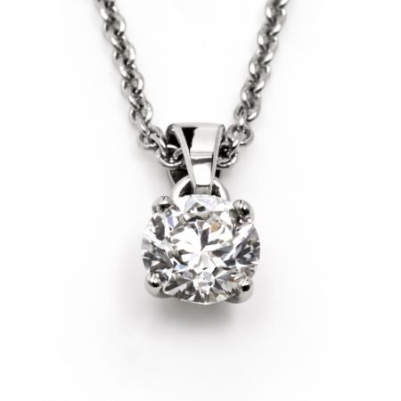 Bespoke Platinum One Carat Diamond Necklace by Sheffield Silversmith and Jeweller Rebecca Joselyn