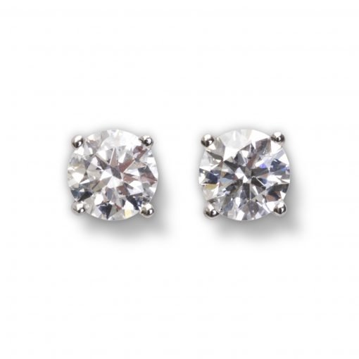 Bespoke Diamond Earrings by Rebecca Joselyn Silversmith and Jeweller Made in Sheffield South Yorkshire