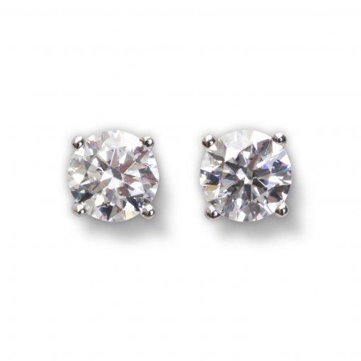 Bespoke Diamond Earrings by Sheffield Silversmith and Jeweller Rebecca Joselyn