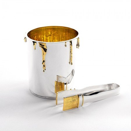 Silver 'Paint Pot' Ice Bucket by Sheffield Silversmith and Jeweller Rebecca Joselyn