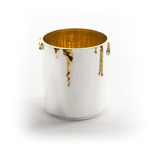 Silver 'Paint Pot' Ice Bucket by Rebecca Joselyn by Sheffield Silversmith and Jeweller Made in Sheffield South Yorkshire
