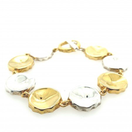 Silver Bottle Top Bracelet by Sheffield Silversmith and Jeweller Rebecca Joselyn