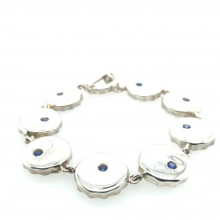 Silver and Blue Sapphire Bracelet