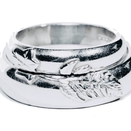 Bespoke 'Wedding Rings' in Sterling Silver by Sheffield Silversmith and Jeweller Rebecca Joselyn