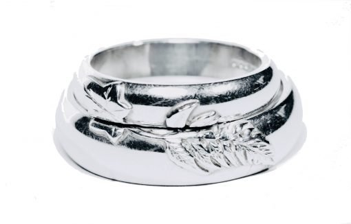 Bespoke 'Wedding Rings' in Sterling Silver by Sheffield Silversmith and Jeweller Rebecca Joselyn Made in Sheffield South Yorkshire