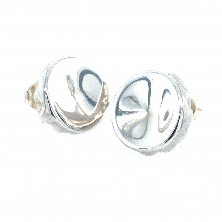 Silver Bottle top Earrings by Rebecca Joselyn Silversmith and Jeweller Made in Sheffield South Yorkshire
