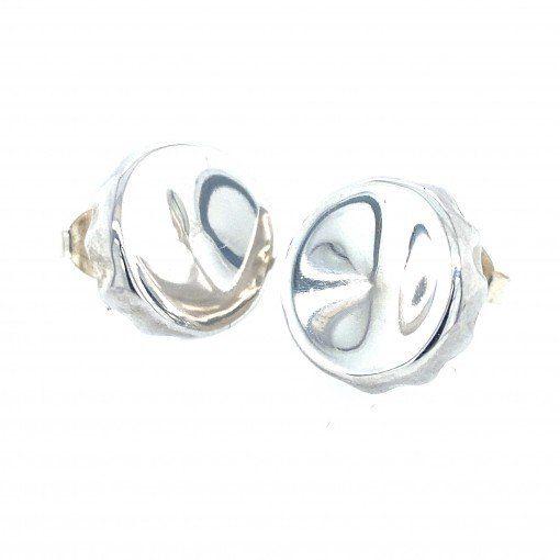 Silver Bottle top earrings