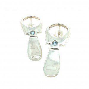Silver Ring pull earrings