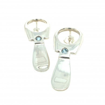 Silver Ring pull earrings
