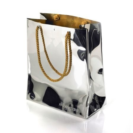 Medium Silver 'Bag Vase' by Sheffield Silversmith and Jeweller Rebecca Joselyn