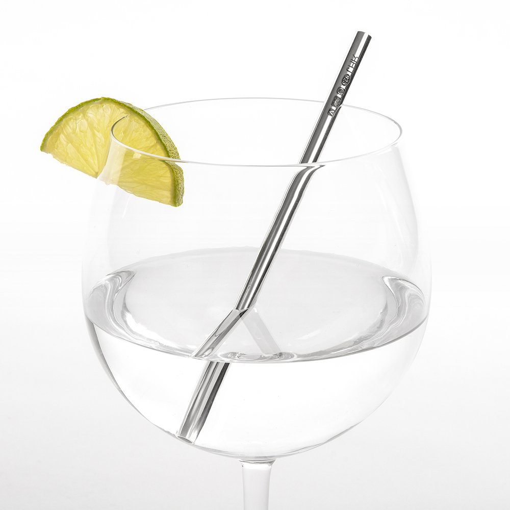 Silver Gin Straw by Sheffield Silversmith and Jeweller Rebecca Joselyn