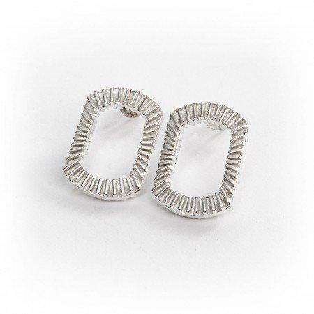 Silver Bubble Earrings flat