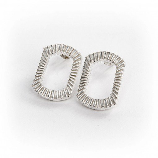 Silver Bubble Earrings flat