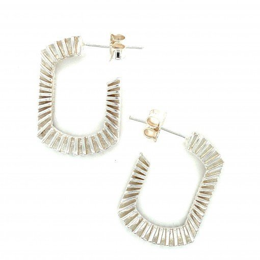 'Bubble Blower' Earrings in Silver by Rebecca Joselyn Silversmith and Jeweller Made in Sheffield South Yorkshire