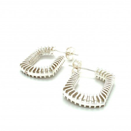 Silver Bubble Blower Earrings by Sheffield Silversmith and Jeweller Rebecca Joselyn
