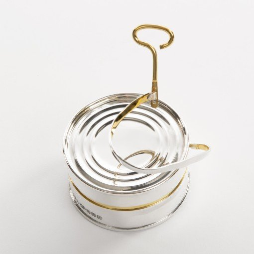 Commissioned Silver Box with a 18 Carat Gold Key by Sheffield Silversmith and Jeweller Rebecca Joselyn