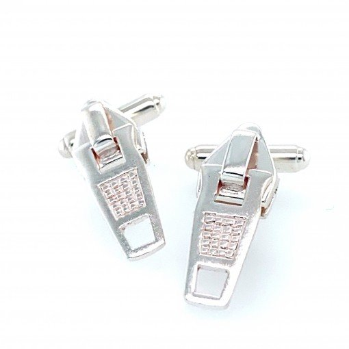 Silver Zip Cufflinks by Sheffield Silversmith and Jeweller Rebecca Joselyn