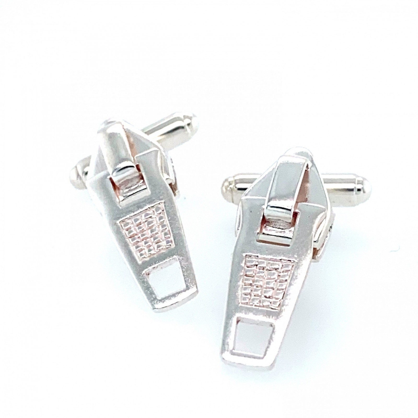 Silver Zip Cufflinks by Sheffield Silversmith and Jeweller Rebecca Joselyn